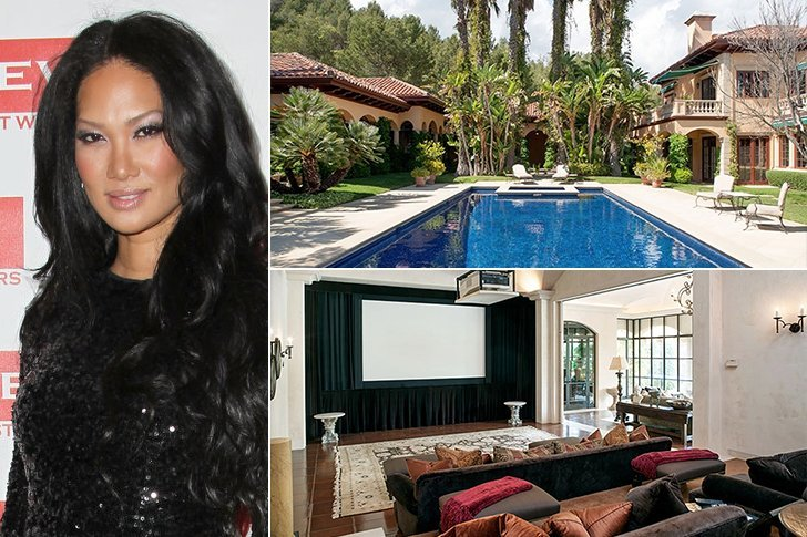 Jaw dropping celebrity houses do they even care if their insurance cover real estate value - Kimora lee simmons office ...